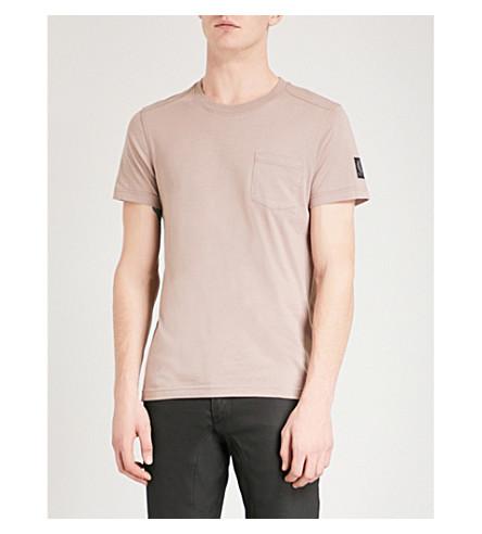BELSTAFF Patch pocket cotton T-shirt (Ash+rose