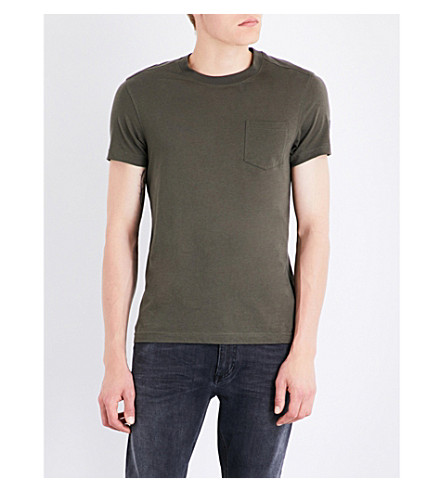 BELSTAFF Patch pocket cotton T-shirt (Green