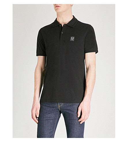 BELSTAFF Stannett cotton-piqué polo shirt (Black