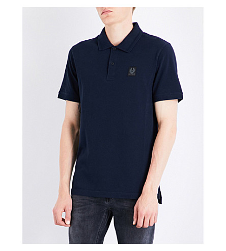 BELSTAFF Cotton-piqué polo shirt (Navy