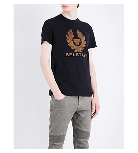 BELSTAFF Logo-print cotton-jersey T-shirt (Black