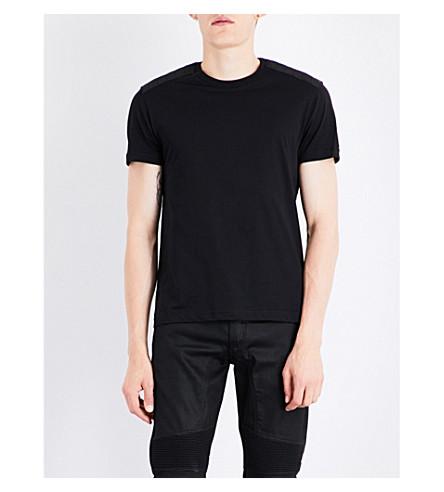 BELSTAFF Arm badge cotton-jersey T-shirt (Black