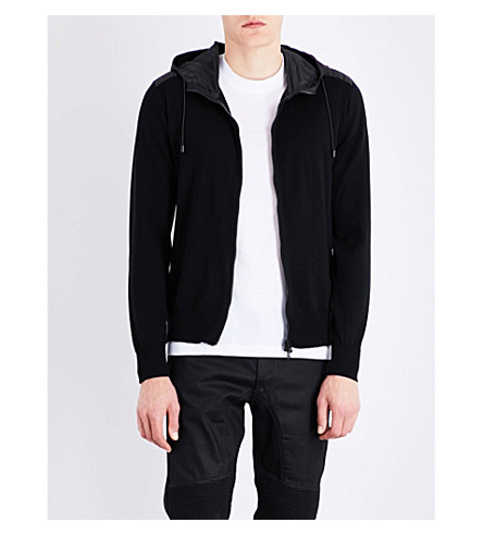 BELSTAFF Hooded wool jacket (Black