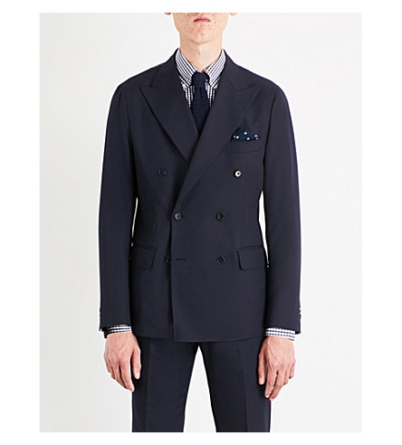 SEBIRO BY UNITED ARROWS Double-breasted wool-blend jacket (Navy