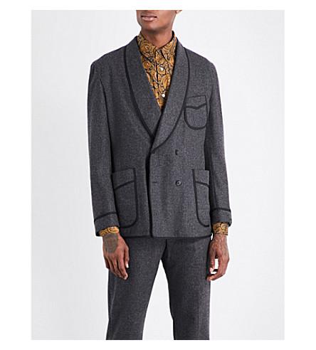 CAMOSHITA Brushed wool-blend jacket (Grey