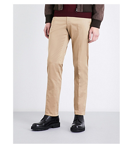 SEBIRO BY UNITED ARROWS Tailored-fit stretch-cotton trousers (Beige