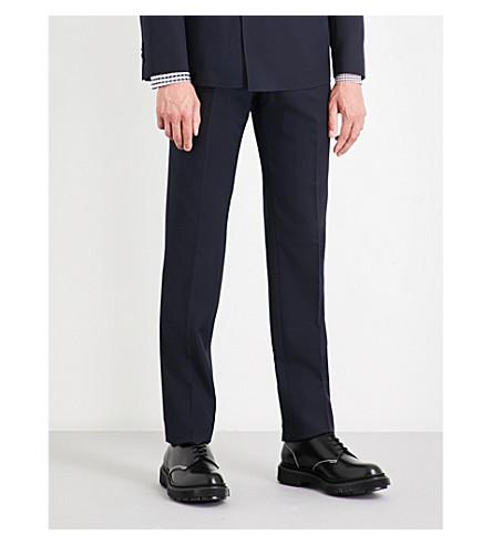 SEBIRO BY UNITED ARROWS Regular-fit straight wool-blend trousers (Navy