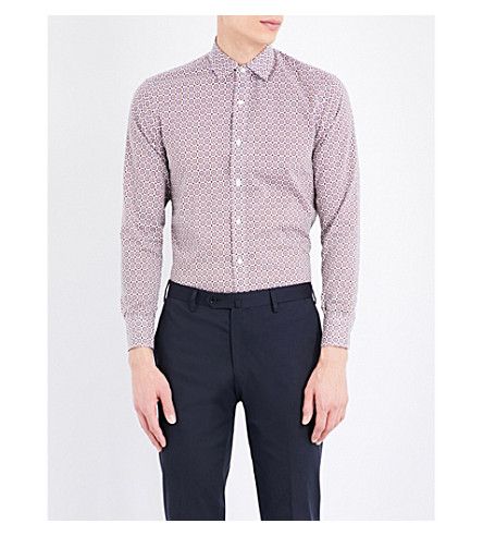 SEBIRO BY UNITED ARROWS Regular-fit cotton-piqué shirt (Orange