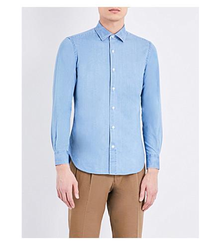 SEBIRO BY UNITED ARROWS Slim-fit denim shirt (Denim