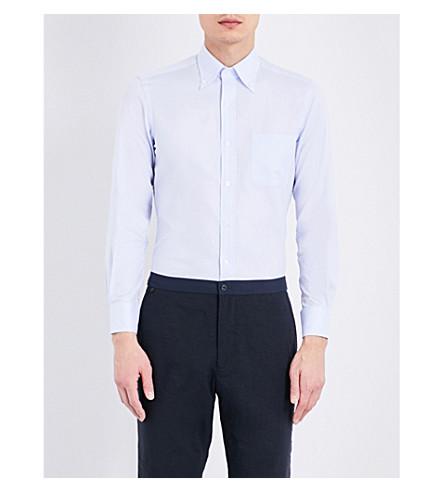 SEBIRO BY UNITED ARROWS Micro-print cotton shirt (Lt+blue