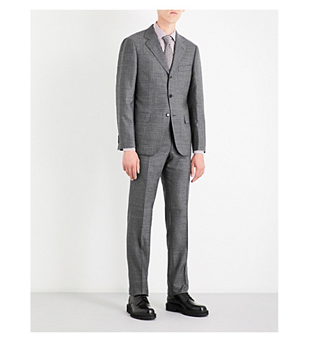 SEBIRO BY UNITED ARROWS Houndstooth wool suit (Grey