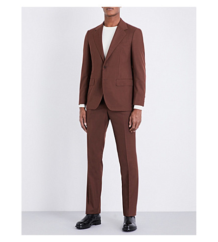 SEBIRO BY UNITED ARROWS Slim-fit wool-blend suit (Brown