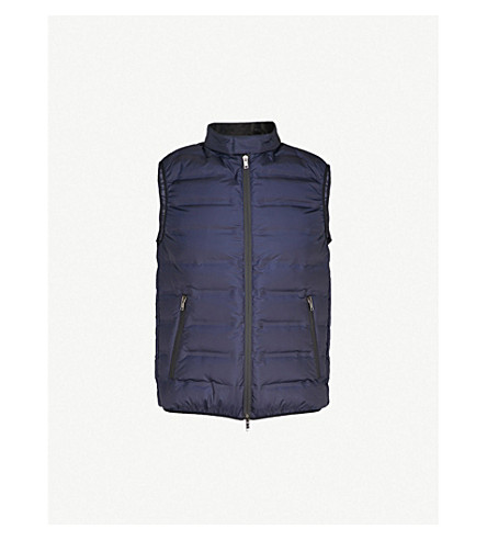 D'AVENZA Padded shell-down gilet (Navy