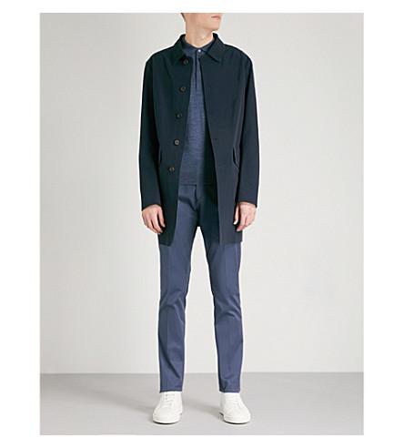 D'AVENZA Cotton-blend rain coat (Navy