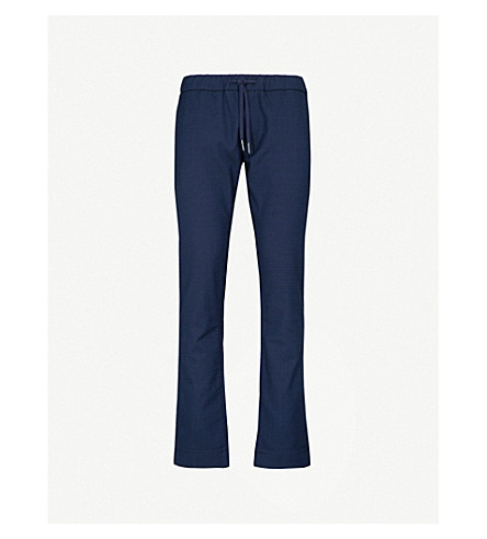 JACOB COHEN Relaxed-fit wool-blend jogging bottoms (Blue