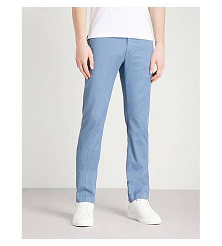JACOB COHEN Slim-fit straight stretch-cotton chinos (Avio