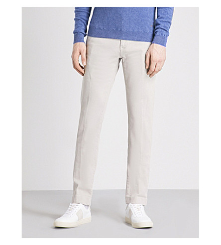 JACOB COHEN Slim-fit straight chinos (Ice+grey