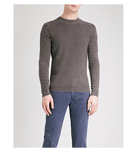 JACOB COHEN Crewneck wool jumper (Brown