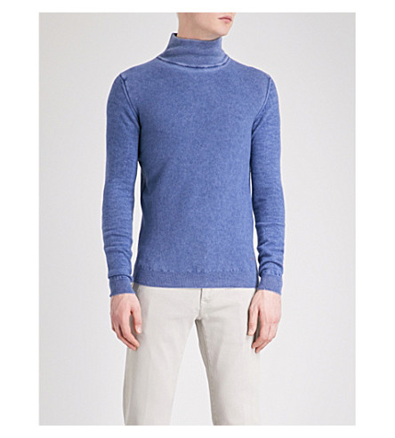 JACOB COHEN Turtleneck wool jumper (Blue