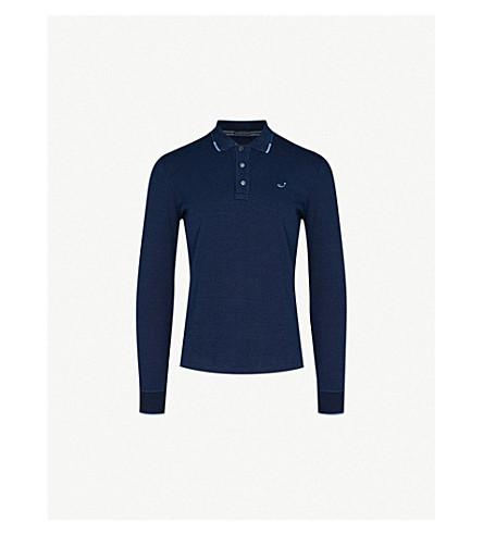JACOB COHEN Logo-embroidered cotton-jersey polo shirt (Indigo