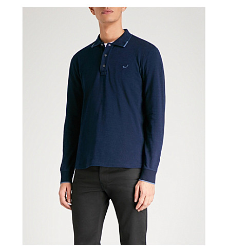 JACOB COHEN Logo-embroidered cotton-jersey polo shirt (Indigo