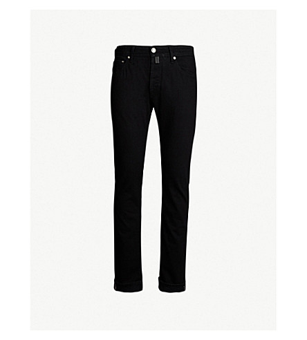 JACOB COHEN Slim-fit straight jeans (Black