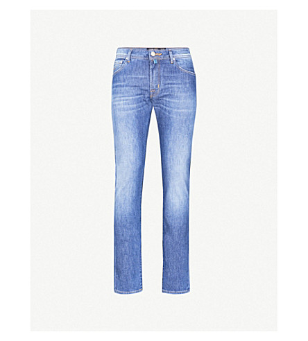 JACOB COHEN Tailored-fit straight jeans (Navy