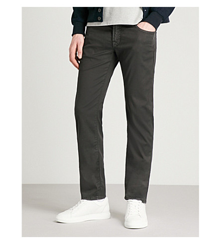 JACOB COHEN Slim-fit tapered stretch-cotton trousers (Black