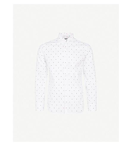 JACOB COHEN Polka-dot cotton shirt (White