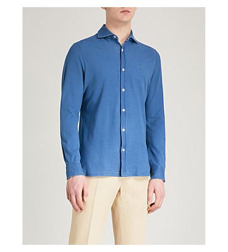 JACOB COHEN Regular-fit cotton-piqué shirt (Indigo