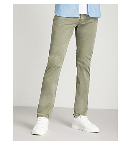JACOB COHEN Slim-fit straight stretch-cotton trousers (Green