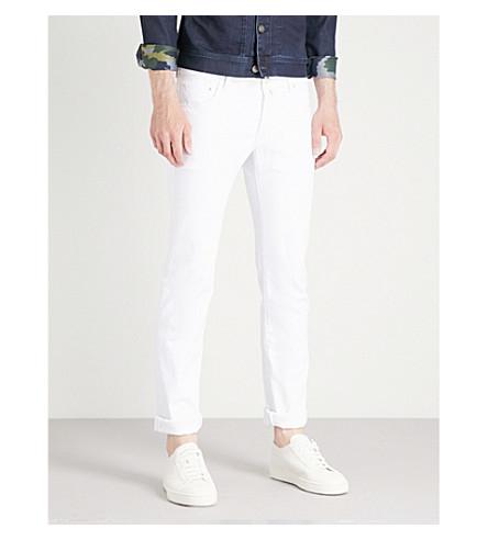 JACOB COHEN 修身版型直筒牛仔裤(白