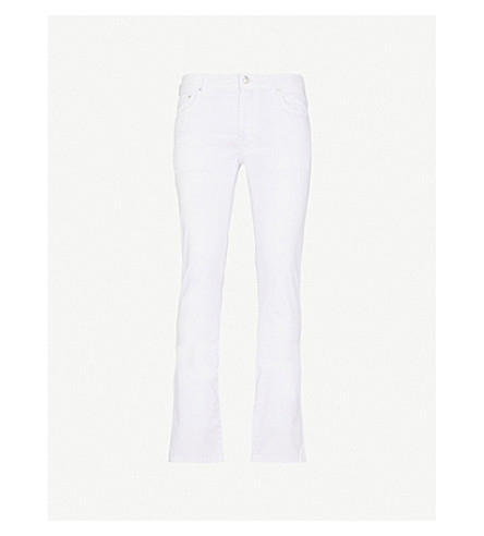 JACOB COHEN Slim-fit straight stretch-cotton trousers (White