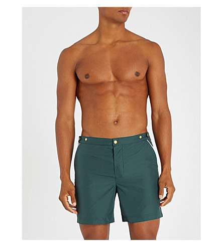 ELEVENTY Relaxed-fit swim shorts (Green