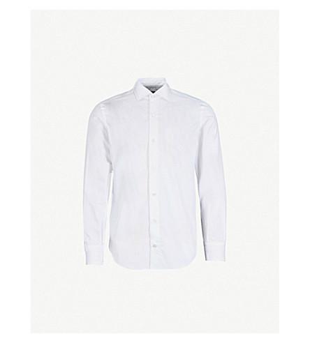 ELEVENTY 薄合身棉府绸衬衫 (白色