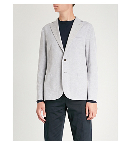 ELEVENTY Regular-fit textured cotton-blend jacket (Grey