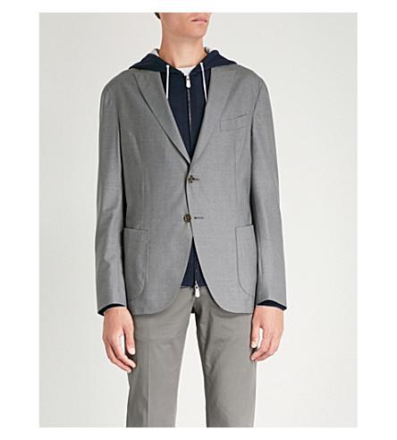 cruzado gris Blazer lana ELEVENTY de qXUw01