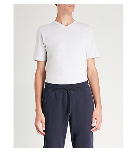 ELEVENTY V 型颈棉球衣 t恤衫 (灰色