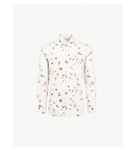 奥斯卡瘦身棉衬衫 (花卉