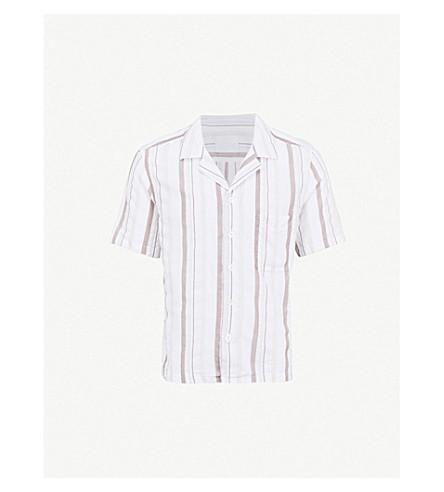 OSCAR JACOBSON Hakon regular-fit cotton shirt (Beige
