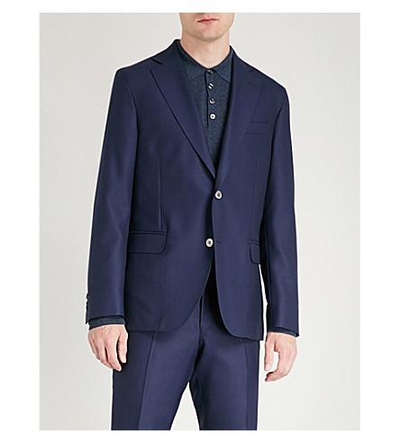 OSCAR JACOBSON Ferry regular-fit wool blazer (Dark+blue