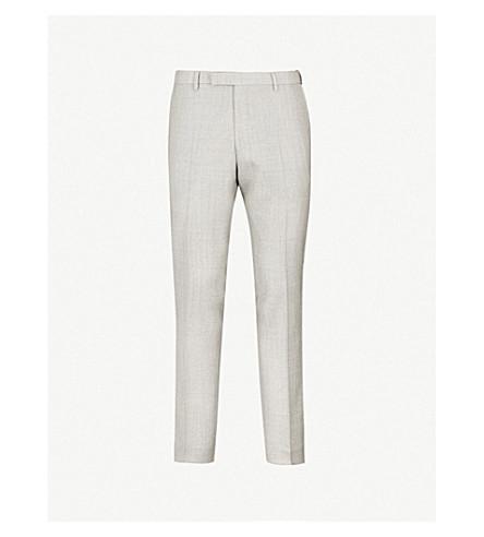 OSCAR JACOBSON迭戈修身版型锥形羊毛裤子 (灰色