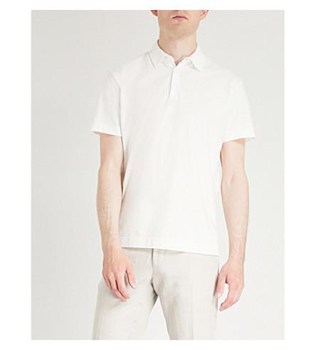 OSCAR JACOBSON Zine regular-fit cotton polo shirt (White
