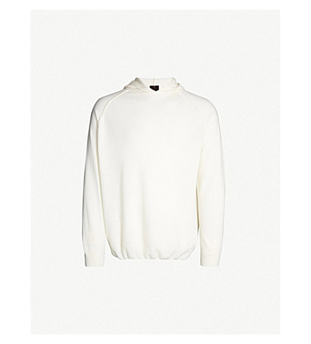 OSCAR JACOBSON Pascal wool and cashmere-blend hoody (White
