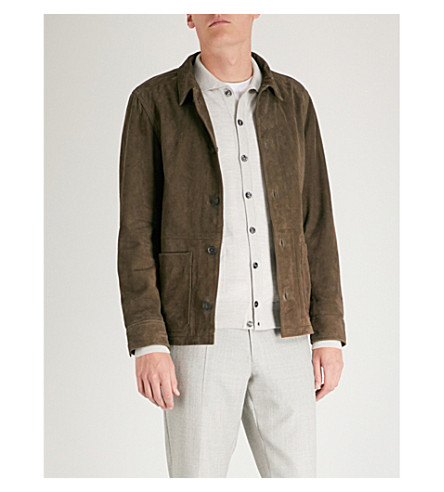 OSCAR JACOBSON Tulio suede jacket (Brown
