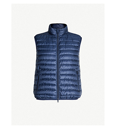ASPESI Quilted shell jacket (Blu