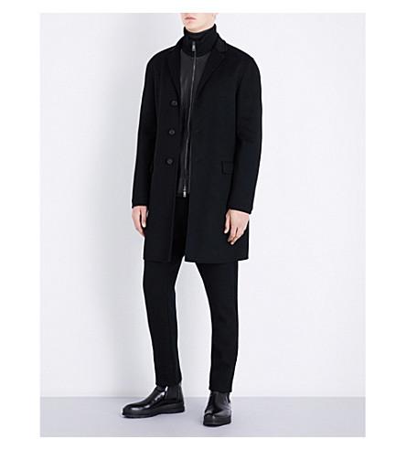 JIL SANDER Buddha wool and cashmere-blend coat (Black