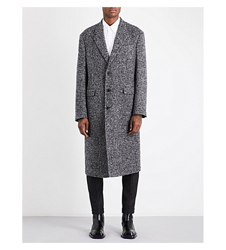 JIL SANDER Newton single-breasted wool-blend coat (Grey