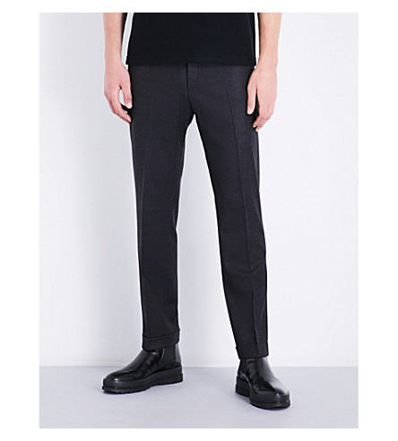 JIL SANDER Adriano slim-fit stretch-wool trousers (Charcoal