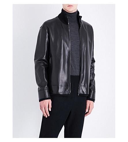 JIL SANDER Nicaragua leather bomber jacket (Black